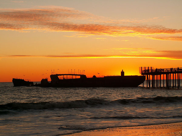 Photo of concrete ship at sunset in Aptos