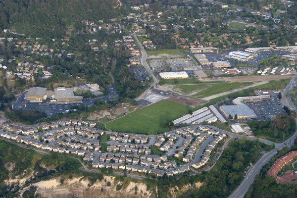 Aerial view of Sky Park in Scotts Valley