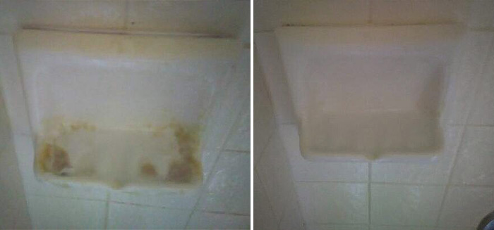 before after soap dish