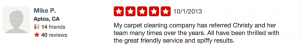 yelp review from mike p in aptos