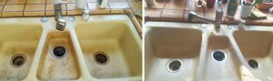 before after sink