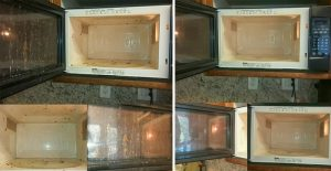 before and after microwave